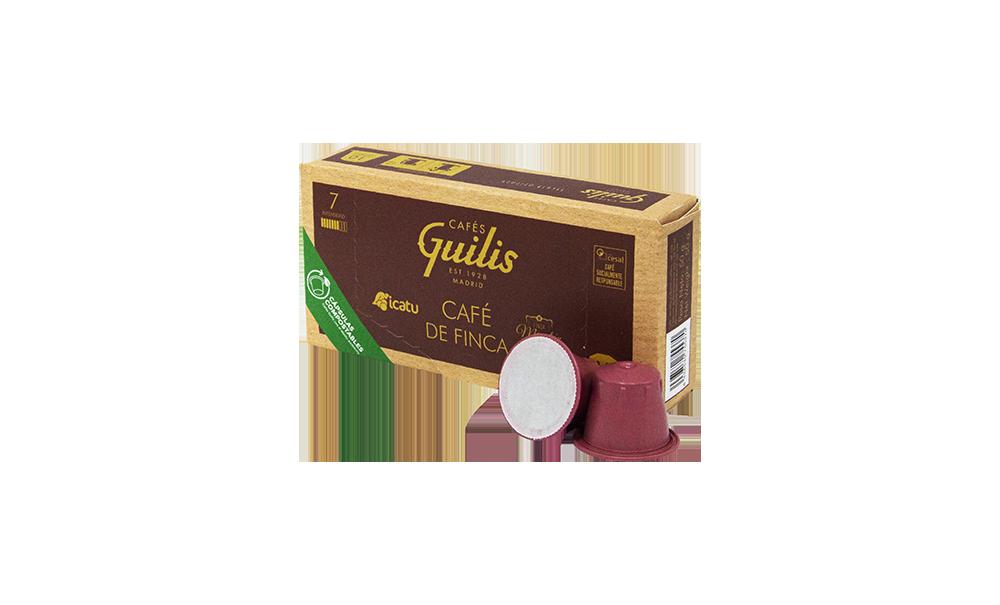 Capsula compostable de finca Cafes Guilis